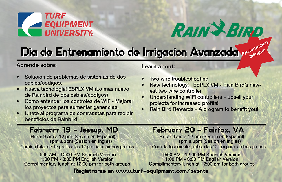 Rain Bird Bilingual Irrigation Seminar-S