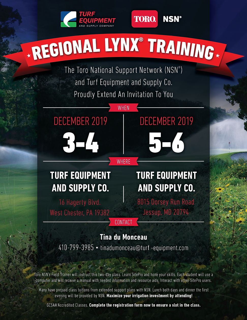 Turf Equipment Regional Lynx Training In