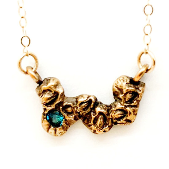 Bright Blue Barnacle Necklace
