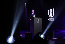 rugby awards presenter stage