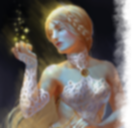 White Witch from the Coven faction in Deneb the fanasy tactical miniatures game