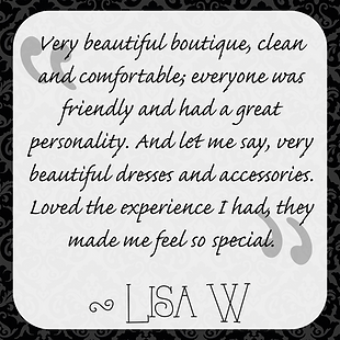 Lisa W's testimonial