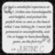 Justine C's testimonial