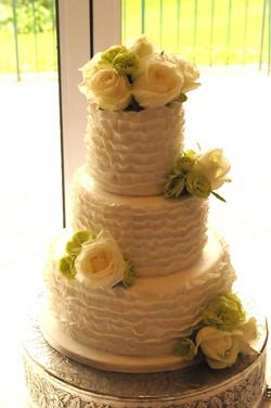 Ruffled Champagne Cake