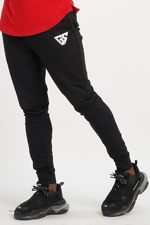 Aspire Fitted Track Bottoms - Black