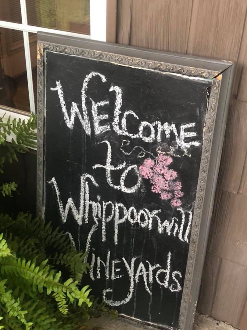 Whippoorwill Welcome Sign