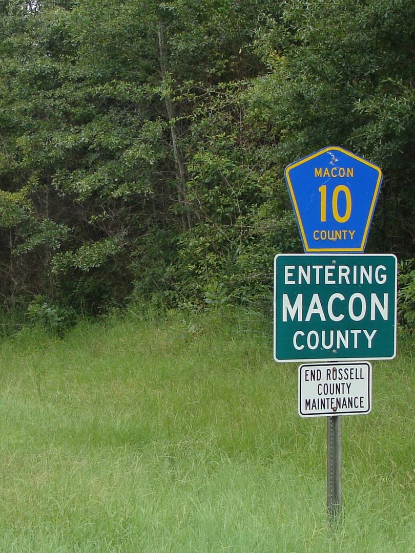 Crossing into Macon County