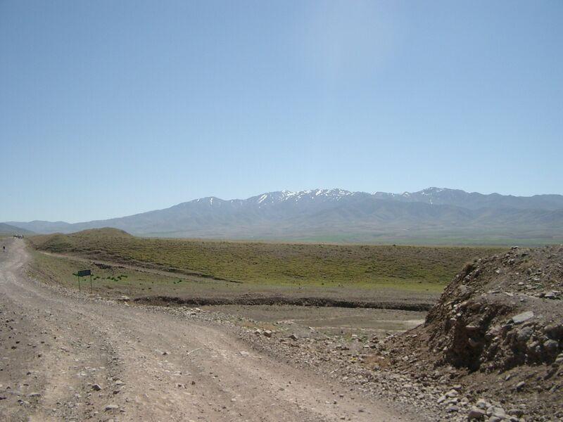 A road in western Afghanistan