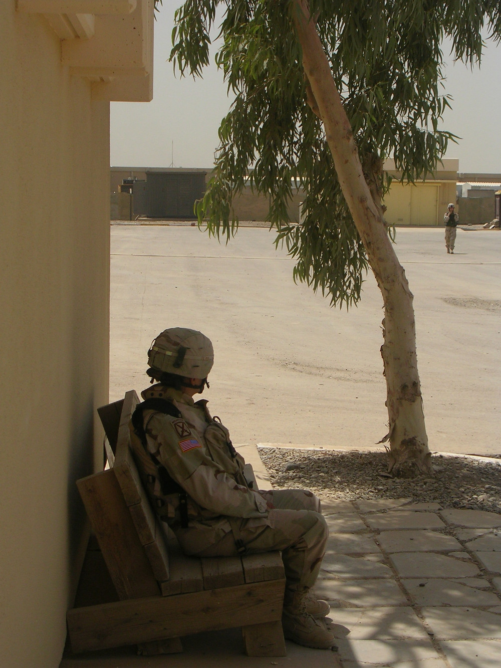 That's me, starting another long day in Iraq - Elana Duffy