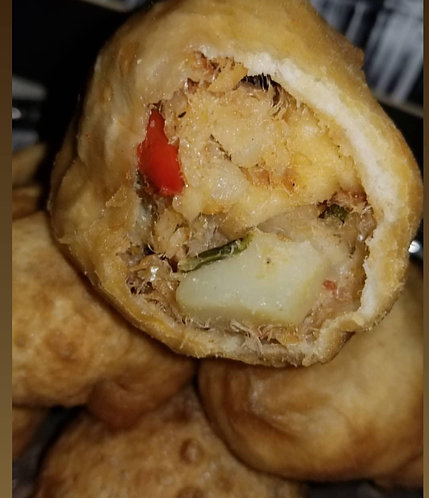 Stuffed Salt Fish & Bake