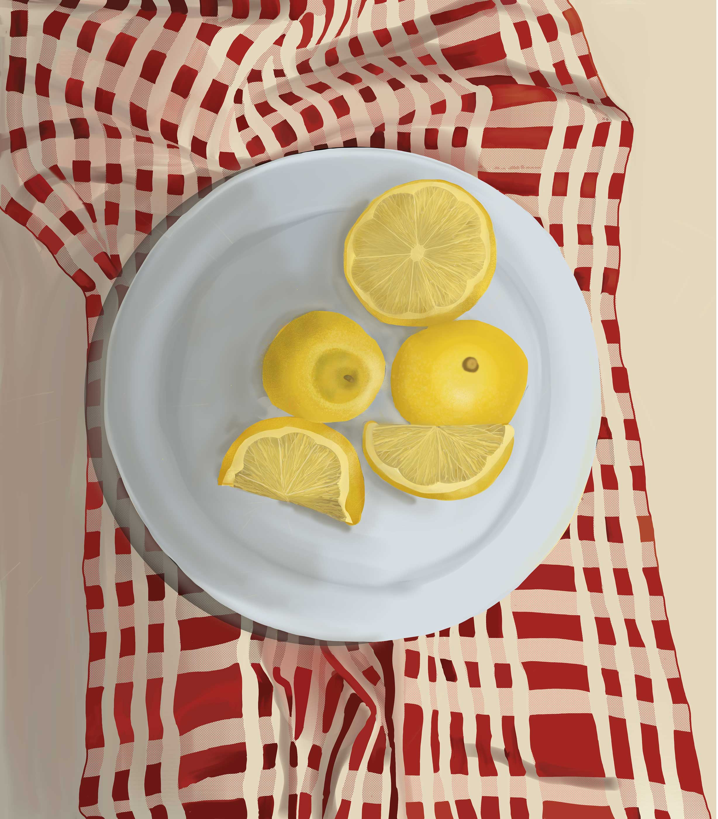 Lemons Digital Painting