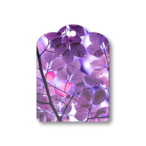 Purple Leaves Card