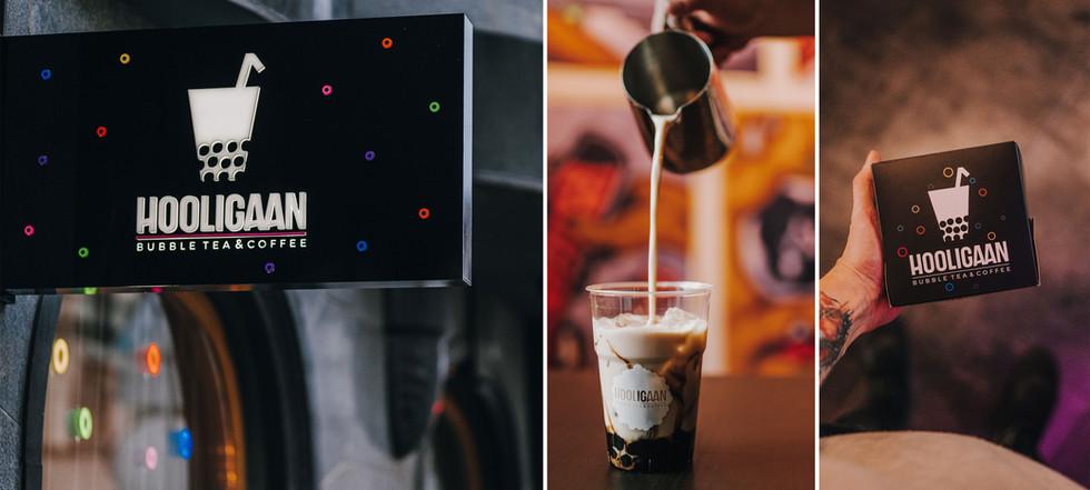 Visual Identity for Hooligaan Bubble Tea & Coffee