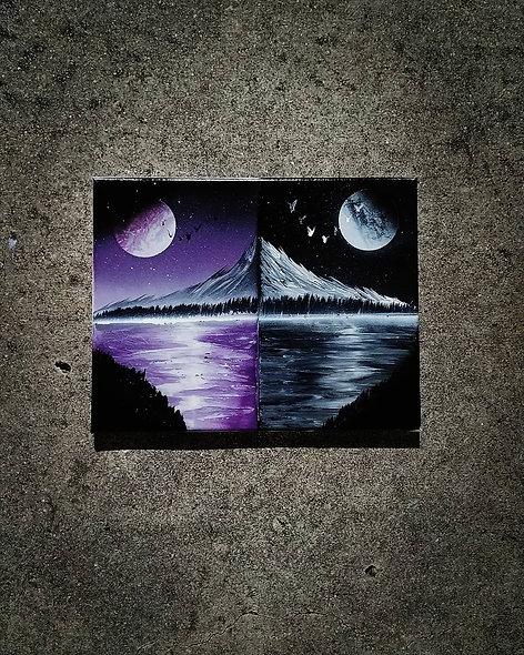 Purple Black Reflection
