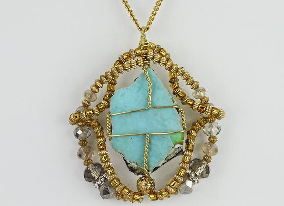 Hemimorphite Amulet Necklace