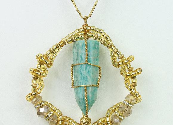 Amazonite Amulet Necklace