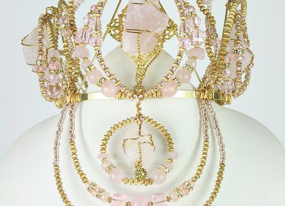 Rose Quartz Delux Crown
