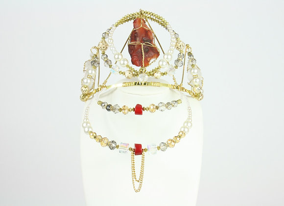 Regal Red Pearl Crown