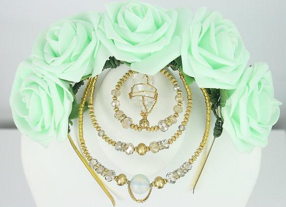 Mint Flower Crown