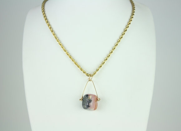 Pink Opal Mini Necklace