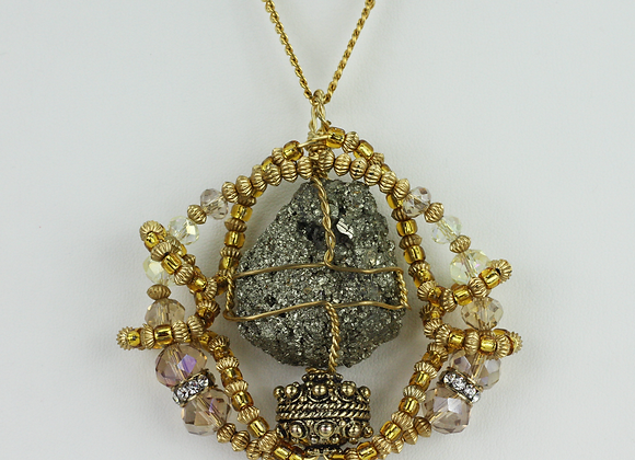 Pyrite Knot Amulet Necklace