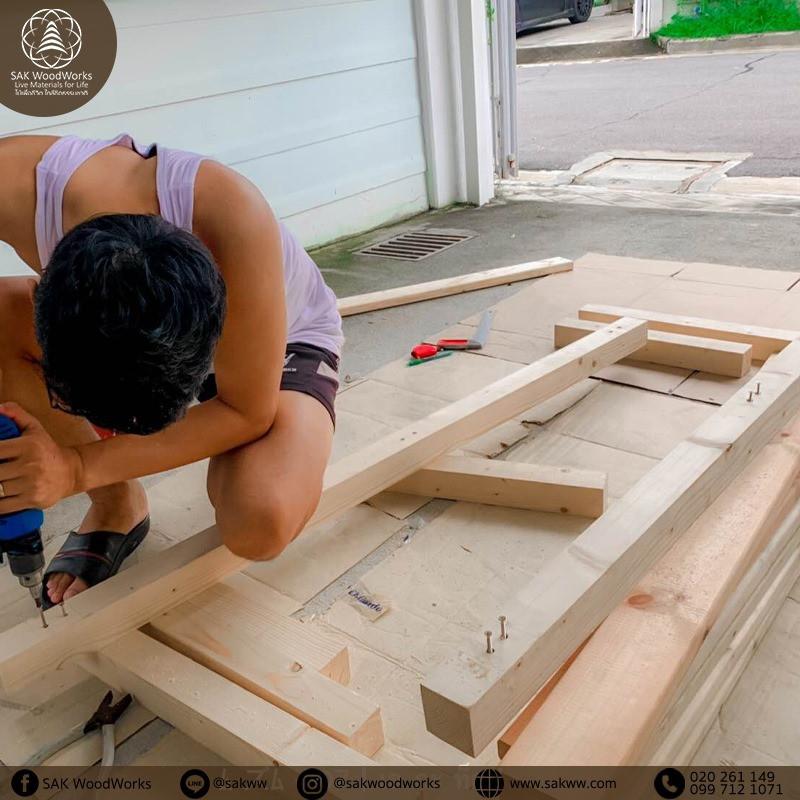 ไม้ระแนง,ไม้สน,ไม้โครง,เสาไม้,ชิงช้า,DIY,D.I.Y.,งานdiy,ไม้สนdiy