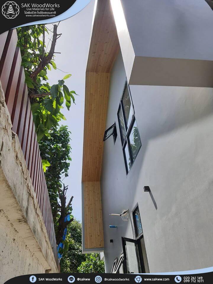 ฝ้า เพดาน ไม้แปรรูป ไม้สนแปรรูป บ้านไม้สน