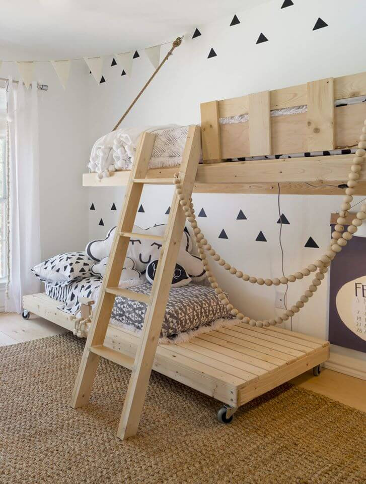 เตียงไม้ เตียงสองชั้น ไม้สน
