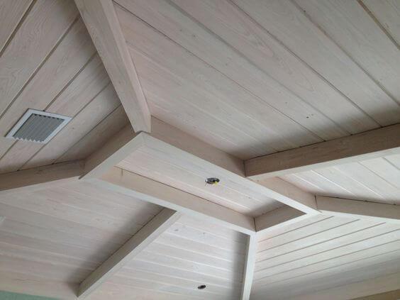 ฝ้า เพดาน ไม้สน สีขาว ไม้สนขาว