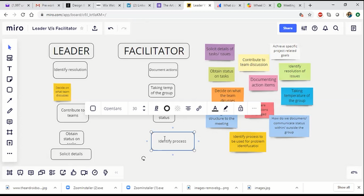 Collaborative Tool in Use during a webinar