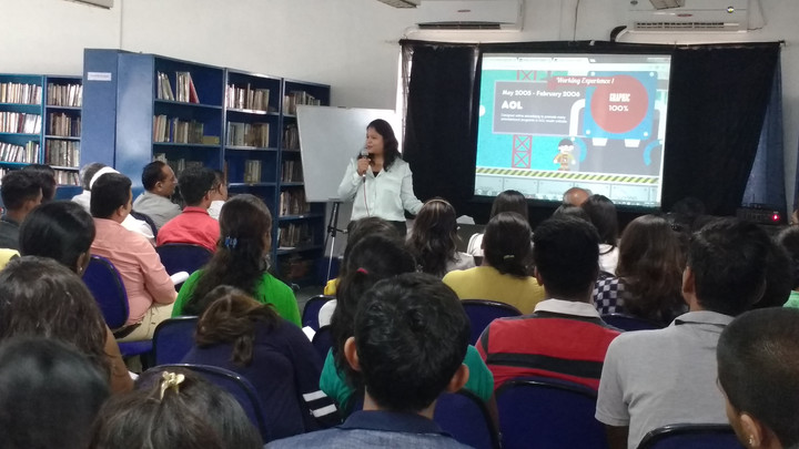Session on digital footprint for students