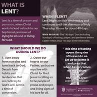 Exploring Lent