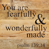 you are fearfully and wonderfully made.j