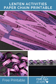 Lenten Paper Chain