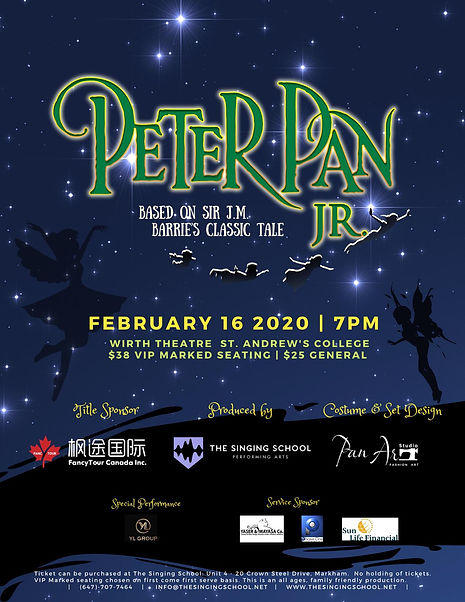 Perter Pan Jr. Musical Poster