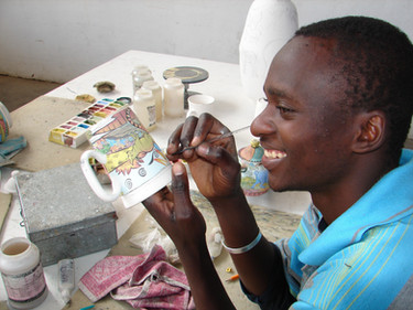 Penzo Studio Zimbabwe Africa Handpainted Pottery Mashona One-of-a-kind African plates and bowls