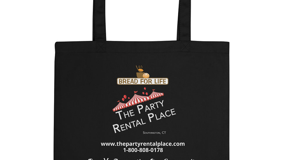 The Party Rental Place - Eco Tote Bag - Southington Bread For Life Donation