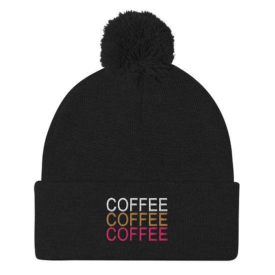 Coffee Coffee Coffee - Pom-Pom Beanie