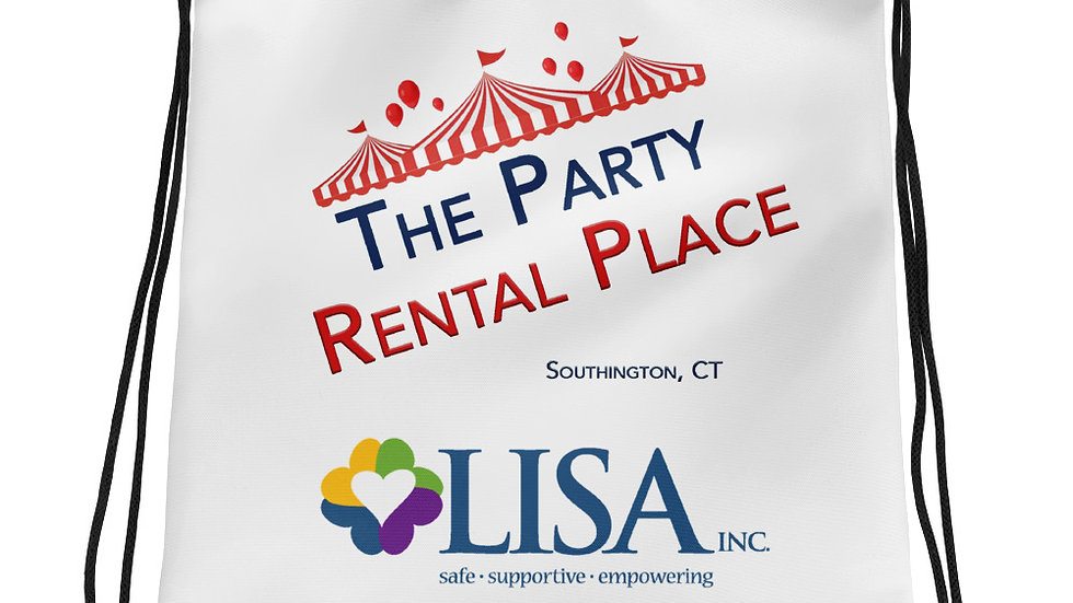 The Party Rental Place & Lisa, Inc Drawstring bag