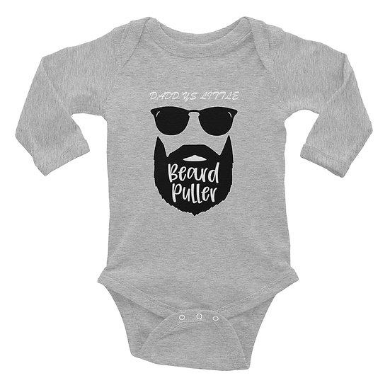 Daddy's Little Beard Puller - Infant Long Sleeve Bodysuit