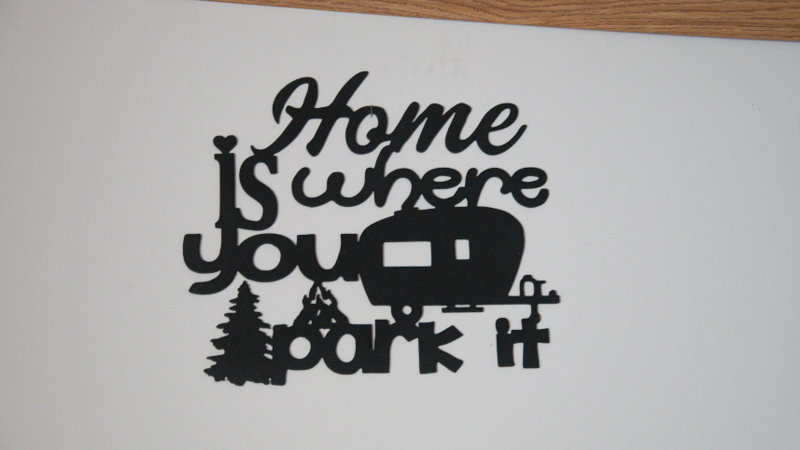 Home is where you park it wall hang sign