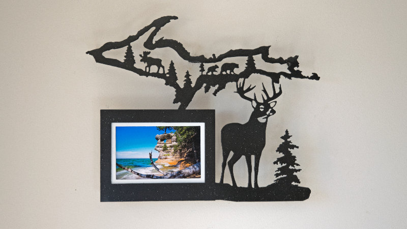 U.P. and buck picture frame