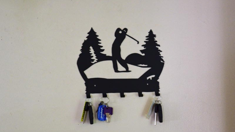 Golfer Keychain Holder