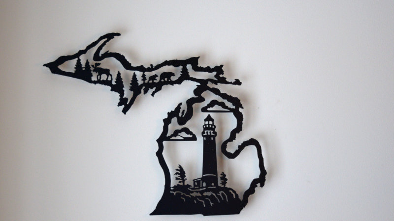 MIchigan Center-Cut Wall Art (Lighthouse)