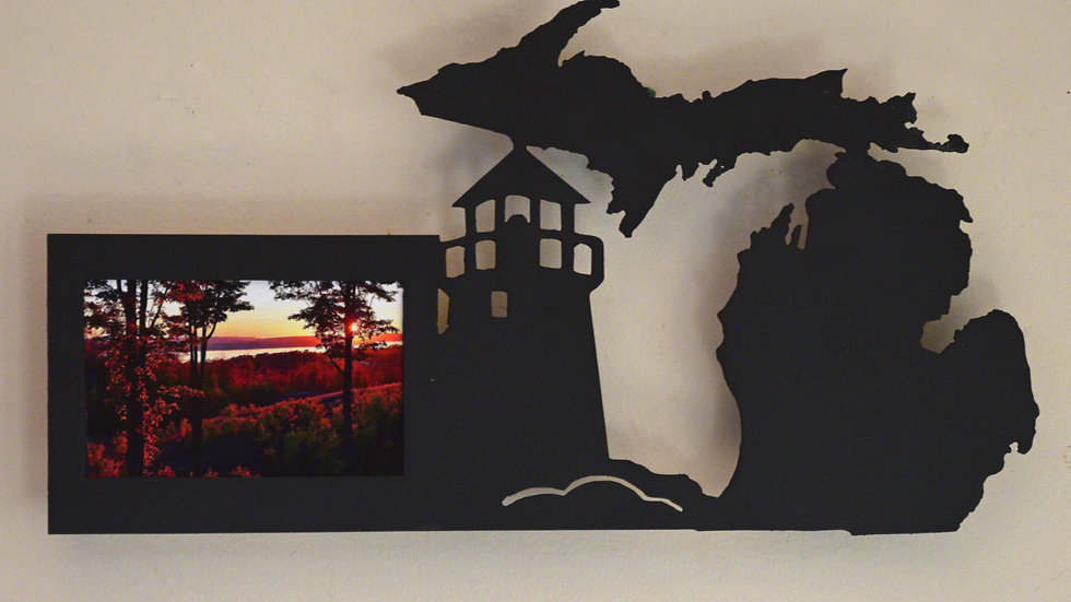 4 x 6 Michigan & Lighthouse Wall Picture Frame