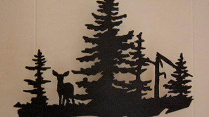 Deer in the Woods Wall Hanging