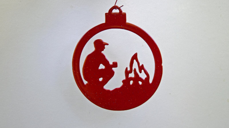 Camping ornament-red