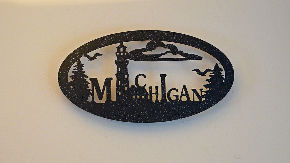 Michigan Oval Wall Hanging