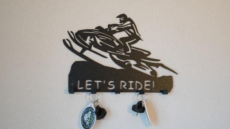 Snowmobiler keys holder