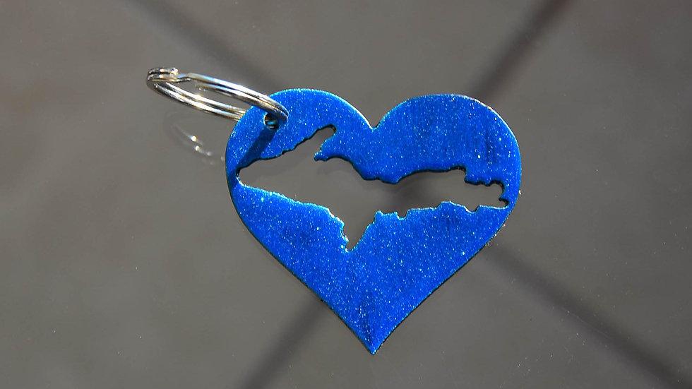 U.P. Heart Keychain